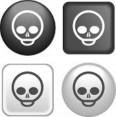 Skull Icon On Buttons Collection