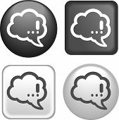 Bubble Speech Icon On Buttons Collection