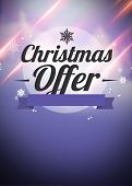 Winter And Christmas Offers Advert Backgound