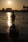 Man In Fishing Boat