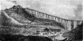 A Coal Mine In Swansea, Vintage Engraving.