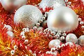 Christmas Balls And Tinsel Of New Year