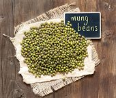 Mung Beans With Small Chalkboard