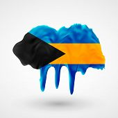 Flag of Bahamas painted colors
