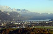 Annecy City And Lake In France