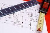 Messung der Band und Lineal auf Haus floorplan