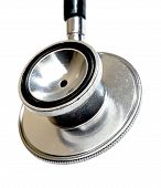 Stethoscope Close-up. Isolated On White.