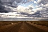 Endless Road Across The Steppe