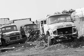 Trucks Vehicles Abandoned