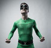 Funny Superhero Snarling