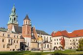 Krakow, Poland - November 02: People Visit Royal Wawel Castle In Krakow On November 02, 2014. Krakow