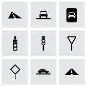 Vector road icon set