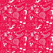 Christmas vector seamless pattern
