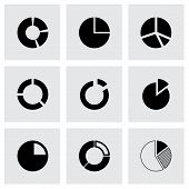Vector pie chart icon set