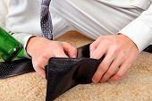 Person Checks The Wallet