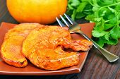 Baked Pumpkin Slices With Honey