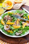 pic of duck breast  - Salad with roasted duck breast and orange - JPG