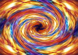 image of hade  - A red and yellow swirling inferno fire storm background - JPG