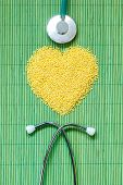 stock photo of millet  - Dieting healthy living concept - JPG