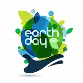 picture of save earth  - Abstract vector illustration background - JPG