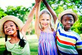 stock photo of diversity  - Diversity Children Childhood Friendship Cheerful Concept - JPG