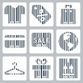 picture of barcode  - Shopping related concept icons set barcode style - JPG
