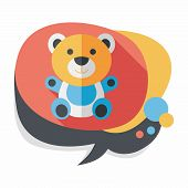 pic of teddy  - Teddy Bear Flat Icon With Long Shadow - JPG