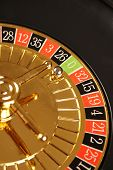 foto of roulette table  - Close up of casino roulette Cales - JPG