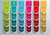 image of oblong  - Oblong banners 6 options on the gray background - JPG