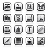 image of personal care  - Bathroom and Personal Care icons  - JPG