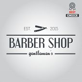 picture of barbershop  - Logo elements badge - JPG