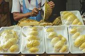 image of stinky  - Durian shop for sell in the market - JPG