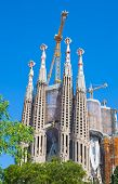 foto of gaudi barcelona  - View of Sagrada Familia by Catalan architect Antoni Gaudi - JPG