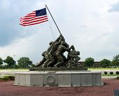 stock photo of iwo  - iwo jima memorial at parris island - JPG
