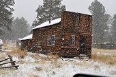 stock photo of log cabin  - Historic 1880 - JPG