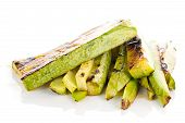 pic of marrow  - Fried begetable marrow isolated on white background - JPG
