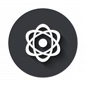 pic of nuke  - Vector modern  gray circle icon on white background - JPG