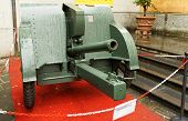 image of artillery  - old artillery gun of the Second World War - JPG