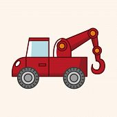 stock photo of wreckers  - transportation tow truck theme elements - JPG