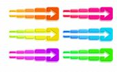 ������, ������: Set Of Colored Squares With Arrow