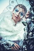image of snow queen  - Winter beauty woman - JPG