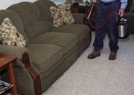 stock photo of pest control  - Exterminator performing an internal spraying.  - JPG