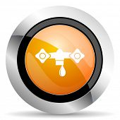 pic of hydraulics  - water orange icon hydraulics sign - JPG