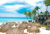 Tropical Caribian Beach And Hotel