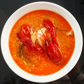 foto of carapace  - lobster soup - JPG