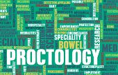 foto of rectal  - Proctology or Proctologist Medical Field Specialty As Art - JPG