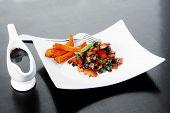 image of soy sauce  - vegetable salad  - JPG