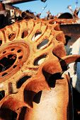 pic of scrap-iron  - old rusty scrap metal - JPG