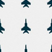 pic of fighter plane  - fighter icon sign - JPG