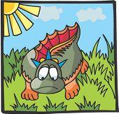 Carácter de dinosaurio